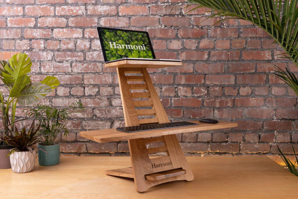 view of a ergonomic desk stand