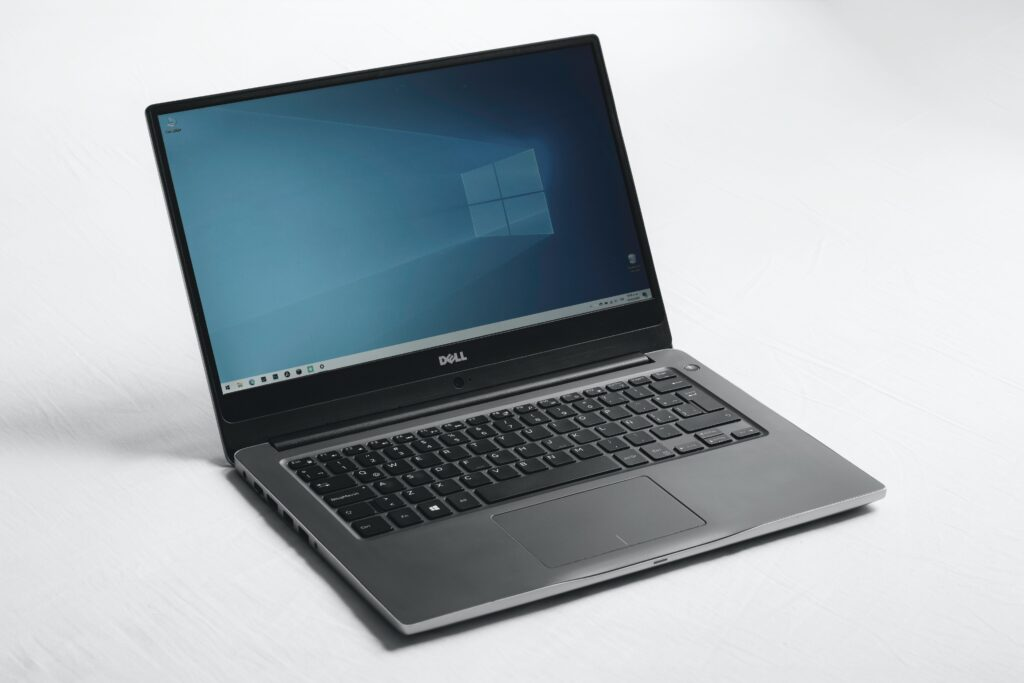 Windows laptop sitting on a desk