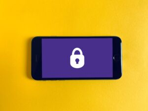 a phone with a lock symbol
