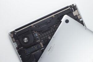 Back of laptop open