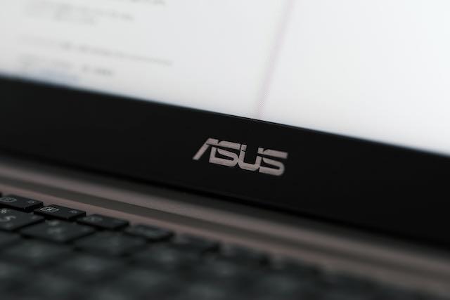 Close up of ASUS logo