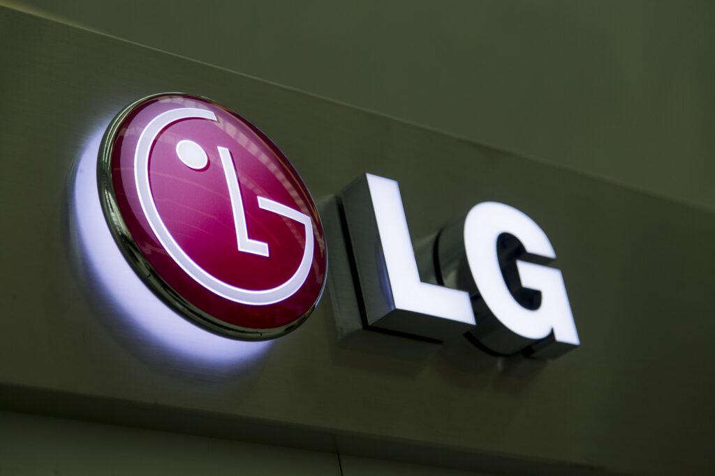 LG storefront sign