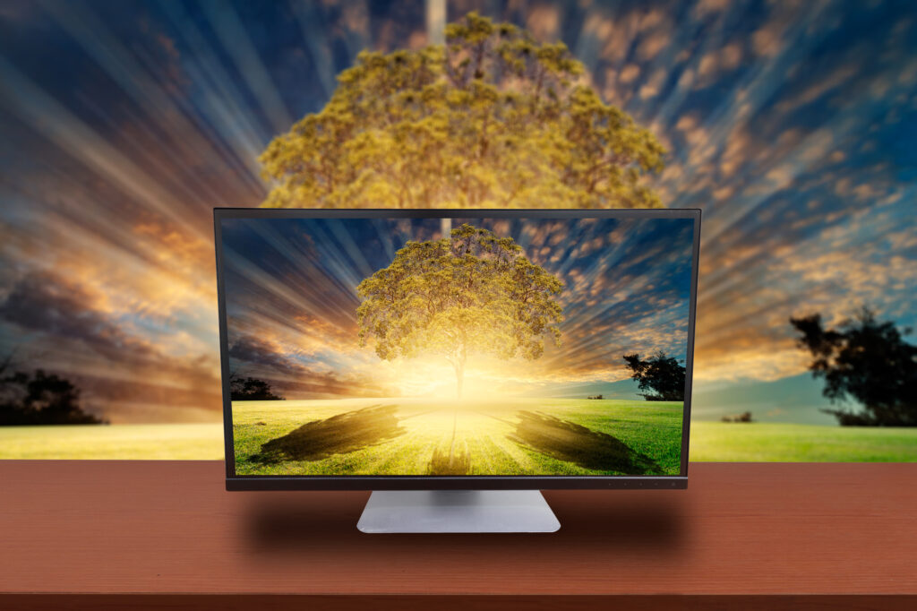 """Computer monitor display OLED """"true-to-life"""" color display"""