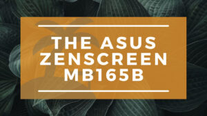 The ASUS Zenscreen MB165B Banner on Wandering Office